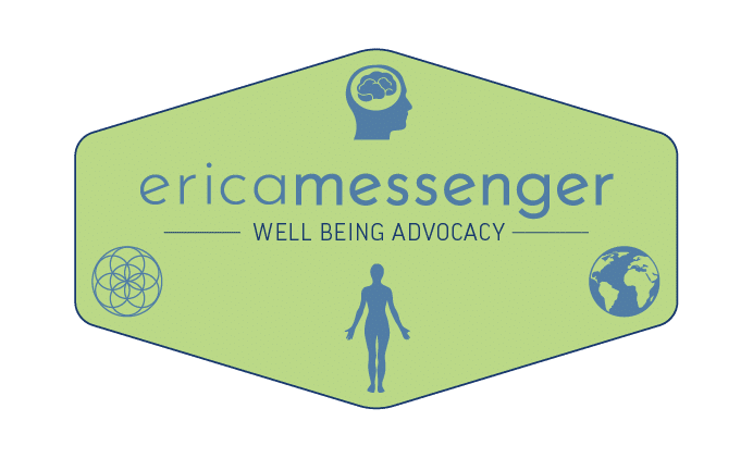 Primary Logo for Erica Messenger well being advocate with transparent background