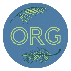 organic icon round with letter outlines
