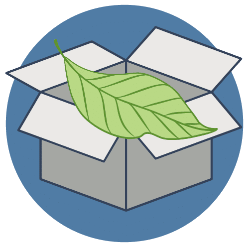 Shipping and handling eco icon round